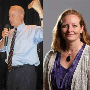 Rep. Mike Coffman (R) and state Sen. Morgan Carroll (D) debate for the third and final time on Thursday.