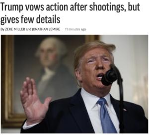 Associated Press Trump mass shootings